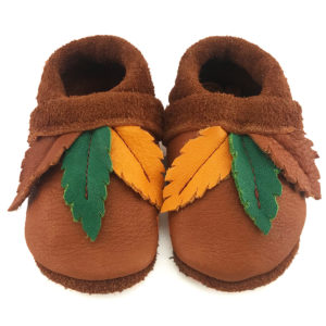 Little Feather Corfoot Handmade leather baby shoes chromefree