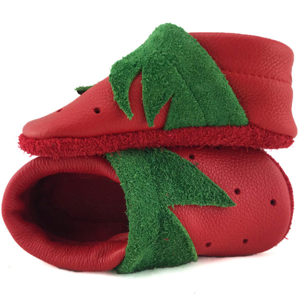 Strawberry Dream Corfoot Handmade baby leather shoes